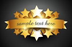 golden-celebration-ribbon-stars-vector