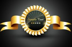 golden-ribbon-medal-vector
