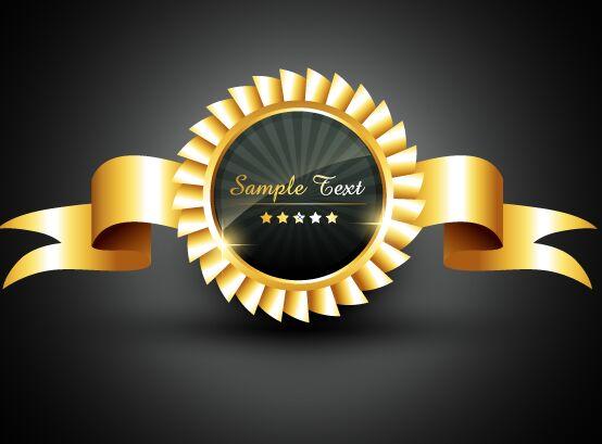 golden-ribbon-medal-vector
