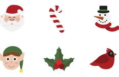 12-flat-christmas-icons-svg