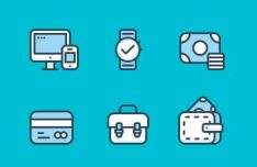 6-minimal-financial-icons-psd