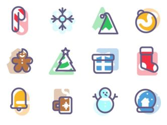 9-super-flat-christmas-icons-vector