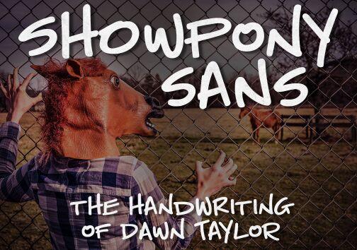 showpony-sans-handwritten-font