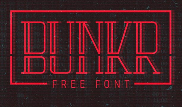 bunkr-typeface