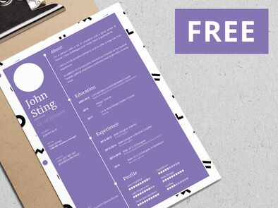 minimal-customizable-resume-template-vector