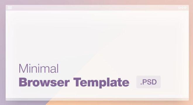 Mini Flat Browser Template PSD