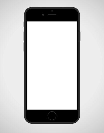 Black iPhone 7 SVG Icon