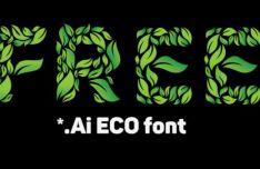 Green ECO Vector Font