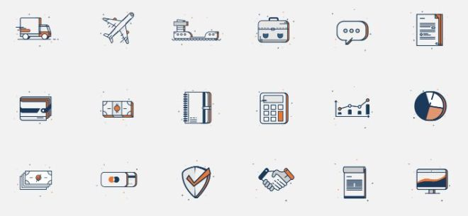 22 Business Icons Vector