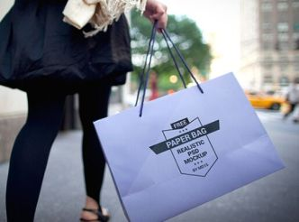 Realistic Paper Shopping Bag PSD Template