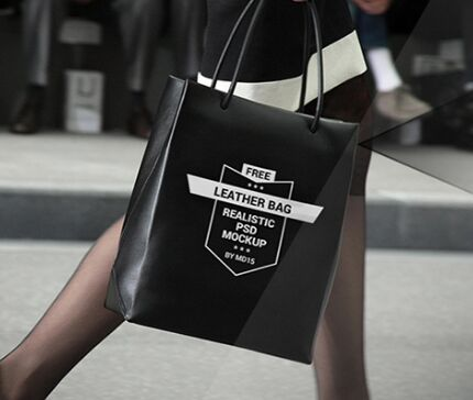Realistic Leather Bag PSD Mockup