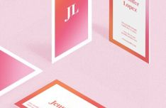 Vertical Horizontal Gradient Business Card Templates Vector