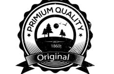 Vintage Premium Quality Badge Vector