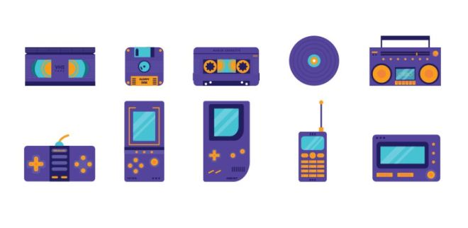 Back To Childhood Vector Icons