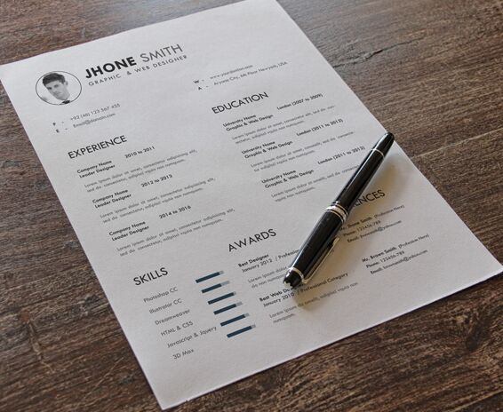 free minimal clean resume psd templates  3 colors