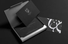 Dark Elegant Business Card PSD Mockup