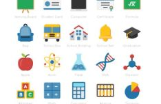 40 Education Icons (AI, EPS, PNG, SVG)