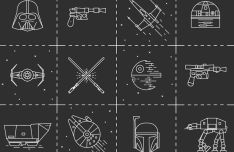 12 Star Wars Vector Icons