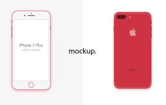 Simple iPhone 7 Plus Vector Mockup