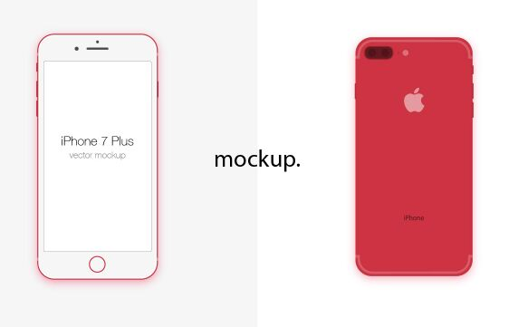 Simple iPhone 7 Plus Vector Mockup