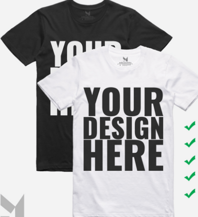 Realistic White Dardk T-shirt PSD Templates