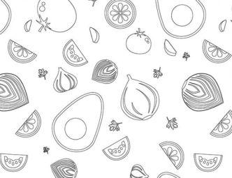 Guacamole Vector Pattern