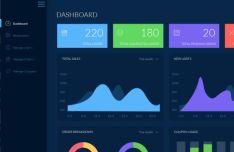 Light & Dark Material Dashboard PSD Template
