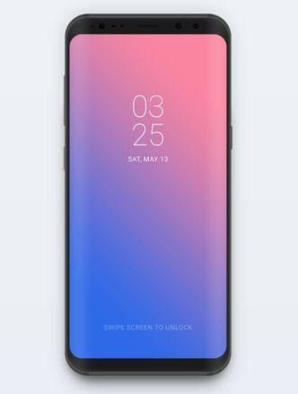 Minimal Samsung Galaxy S8 Mockup PSD