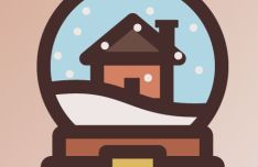 Flat Christmas Home Vector