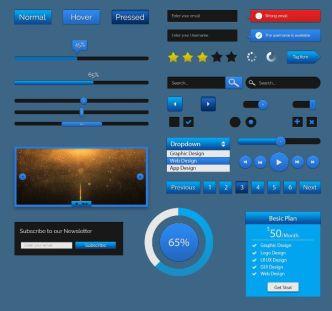 Blur GUI Kit PSD
