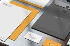 Photorealistic Corporate Identity Mock-up PSD