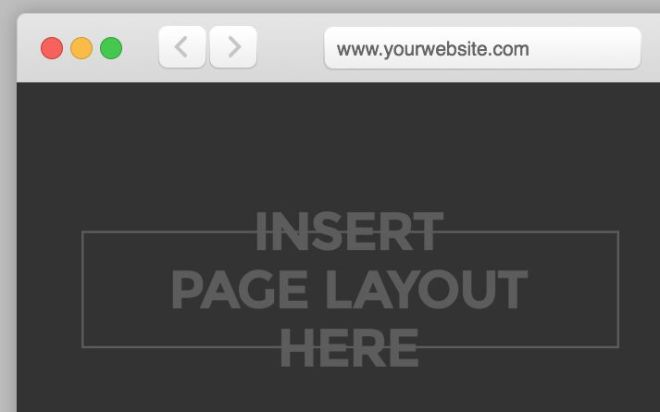 Minimal Clean Web Browser PSD Template
