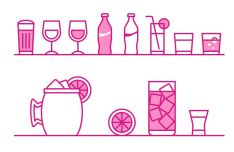 Minimal Drink Vector Icons