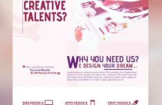 Creative Design Agency Flyer PSD Mockup