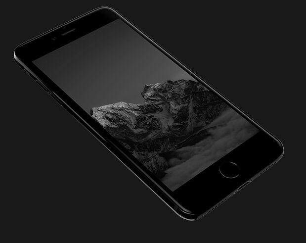Jet Black iPhone 7 PSD Template