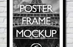 Wall Poster & Photo Frame PSD Mockup