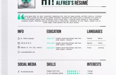 Minimal Modern Resume Vector Template
