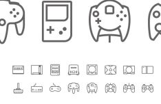 Game Control Console Icons Pack