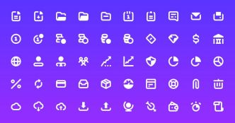 50 Business Stroke Icons (AI+PSD)