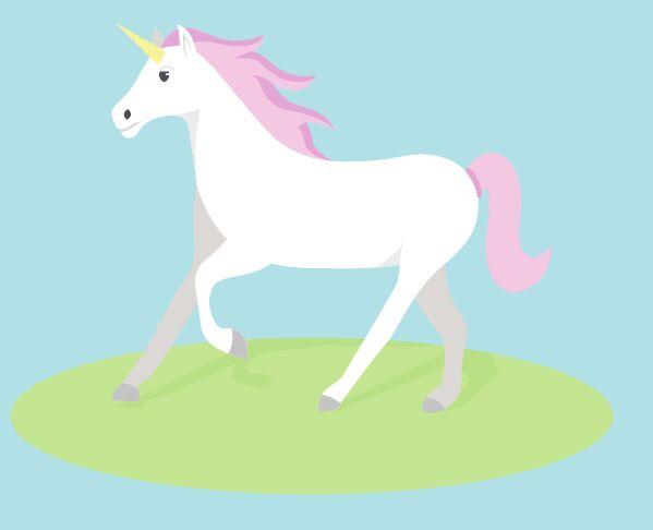 Flat Unicorn Vector Illustration