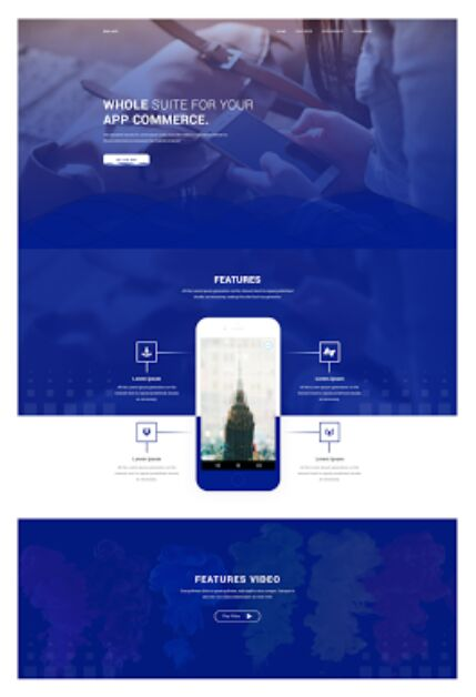 Professional App Landing Page Template