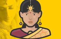 Indian Woman Avatar Vector