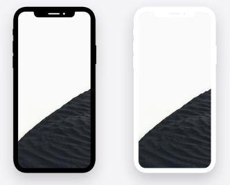 Minimal Dark Light iPhone X PSD Mockups