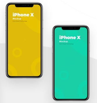 Brand NEW iPhone X PSD Mockup
