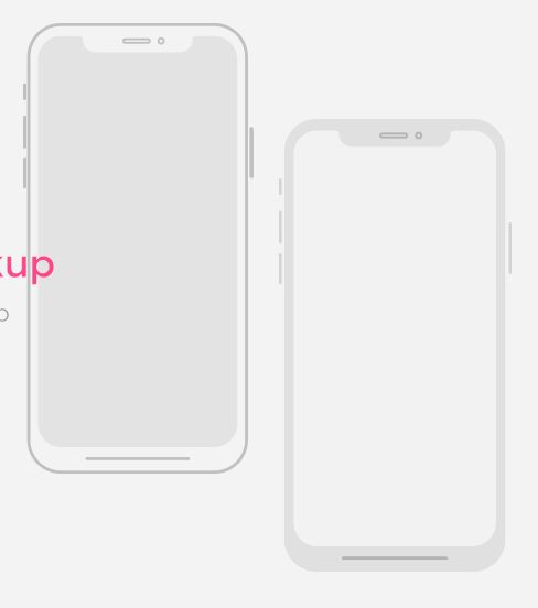 iPhone X Wireframe Mockup Vector