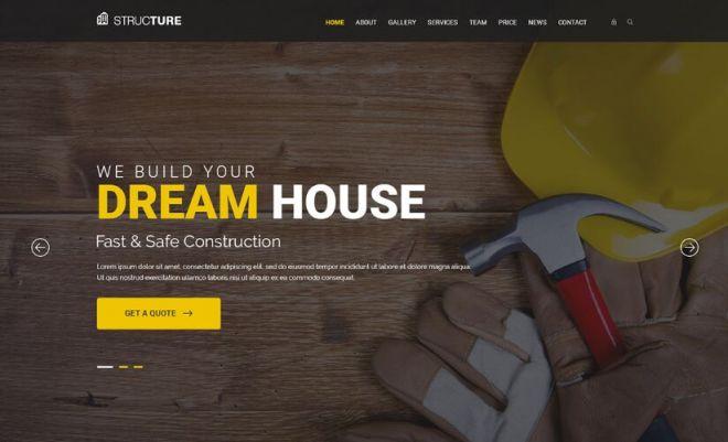 Construction Web Template PSD