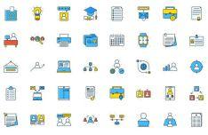 40 Colorful Job Seeker Icons