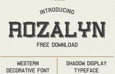 Rozalyn Shadow Display Font