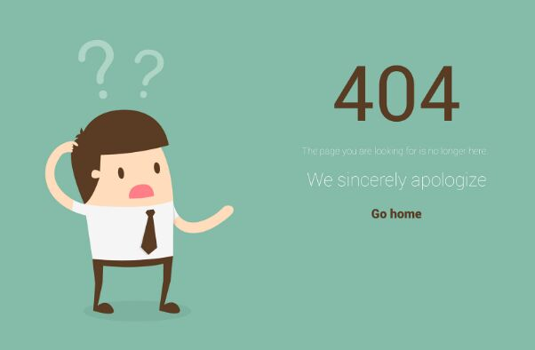 Creative 404 Not Found Template PSD
