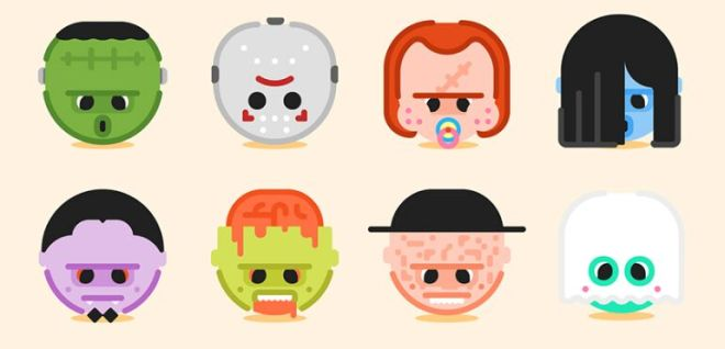 8 Halloween Character Emoji